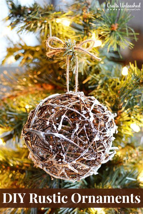 rustic christmas ornaments diy glittery grapevine balls