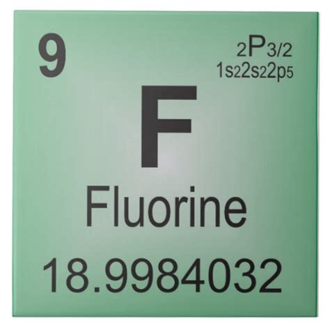 Fluorine Periodic Table by Fluorine Ceramic Tile Periodic Table Of Elements Zazzle
