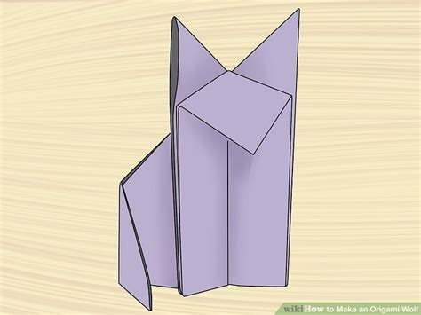how to make a origami wolf how to make an origami wolf with pictures wikihow