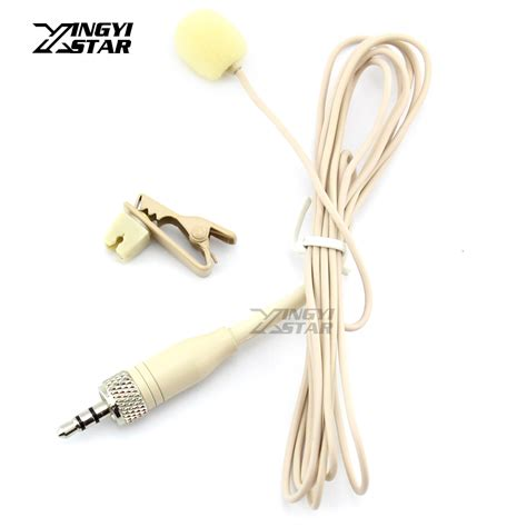 Microphone 3 5 Mm Stereo With Tie Clip For Laptop Gps Mic beige tie clip on lapel mic lavalier microphone 3 5mm