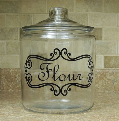 flour glass canister kitchen canister for flour kitchen