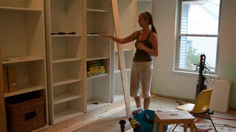 Ikea Billy Bookcase Built In Look Smart Girls Diy Turning Ikea Shelves Into Built Ins