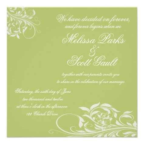 Cheap Lime Green Wedding Invitations