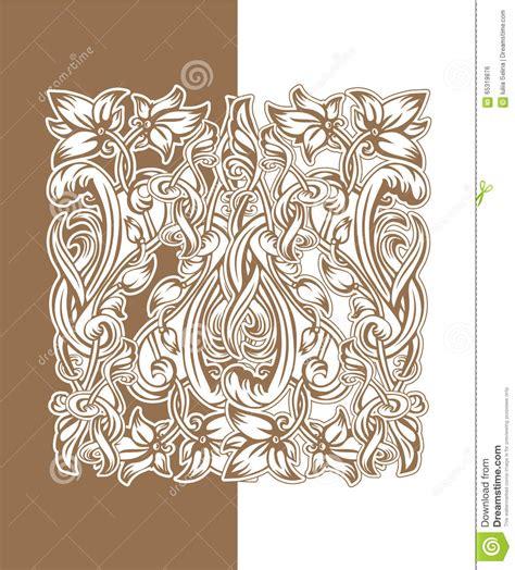 arte fiori fiori nouveau illustrazione di stock immagine 65319876