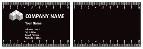 ruler business card template ruler business card gallery business card template