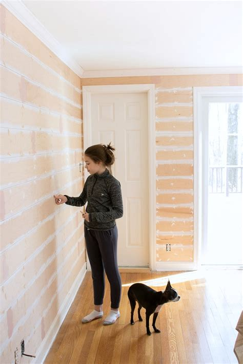 Real Shiplap One Room Challenge Week 2 A Start To The Shiplap Nail