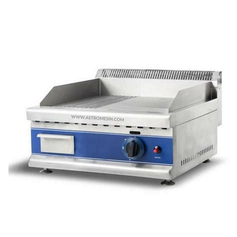table top gas griddle mesin gas griddle grooved table top