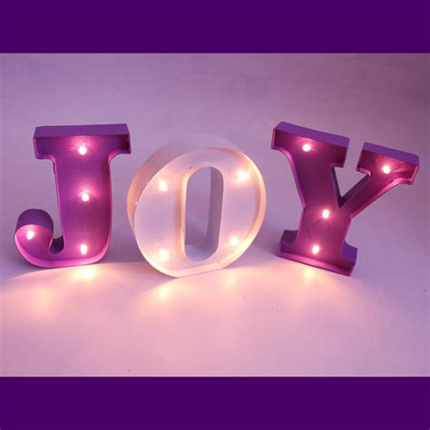 Light Up Signs For Rooms by 10cm High Led Mini Metal Letter Lights Marquee Sign Light Up Light Child S Room Deration