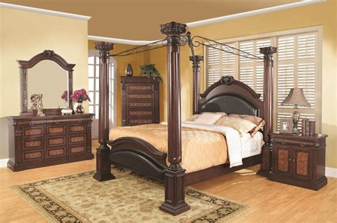 roman bedroom furniture dallas designer furniture grand prado bedroom set with roman column bed