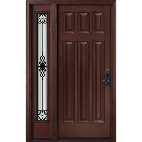 exterior fiberglass door single door   panel glass