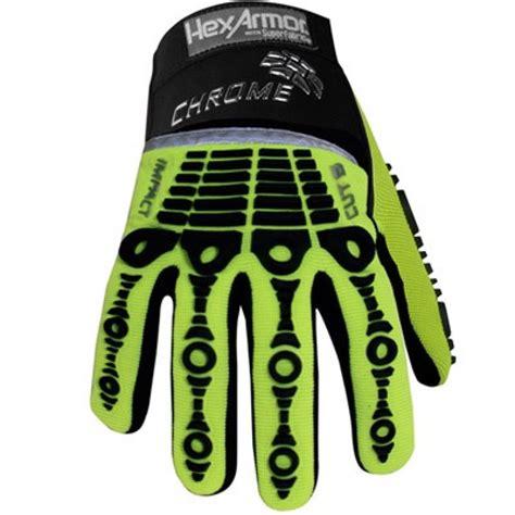 Hi Chrome hexarmor impact hi vis chrome series gloves hexarmor