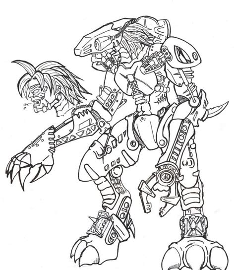 bionicle coloring pages coloring home