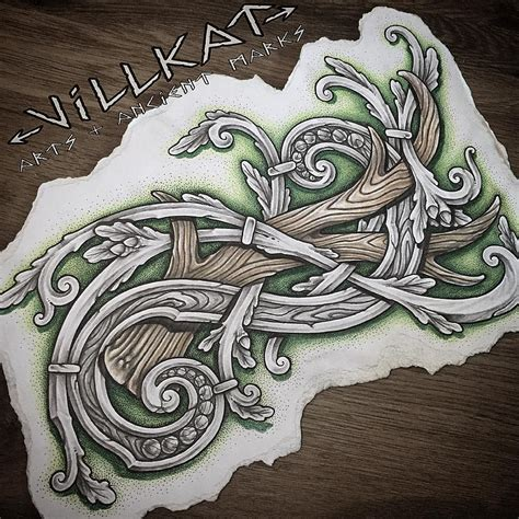 viking art tattoo designs 263 likes 3 comments villkat arts ancient marks