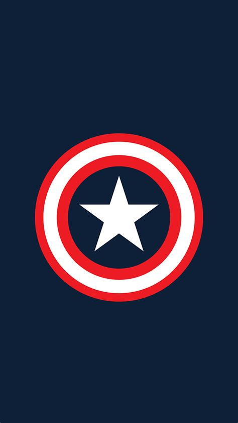captain america logo wallpaper for iphone 10 minimalist superhero iphone wallpapers