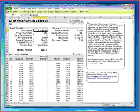 loan amortization with extra principal payments using