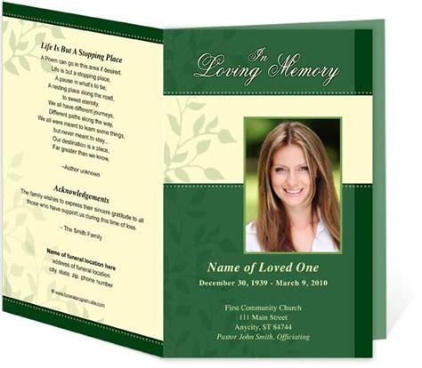 9 memorial service programs templates free lease template