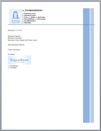 letterhead template blue layouts