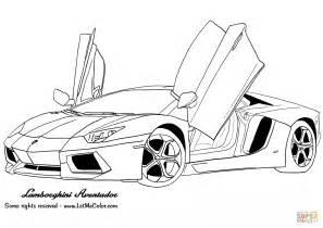 Lamborghini Pictures To Color Lamborghini Aventador Coloring Page Free Printable