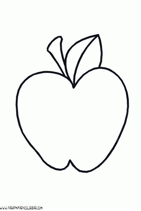 imagenes para colorear manzana imagenes de dibujos de manzanas imagui