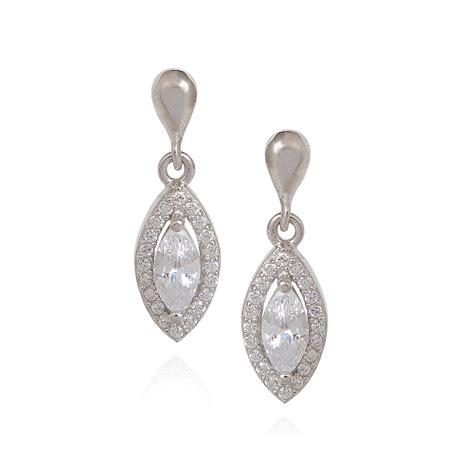 collections swarovski eye silver earring grt