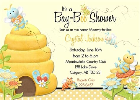 Bumble Bee The Sweet Themed For Your Baby Shower Ideas Free Printable Baby Shower Bumble Bee Invitation Template Free
