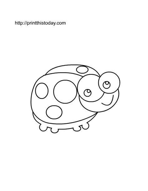 cute ladybug coloring page free printable insects coloring pages
