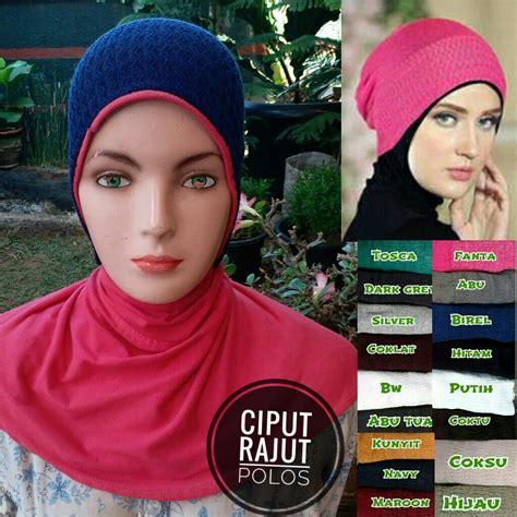 Ready Inner Rajut Glitter Antem ciput rajut polos sentral grosir jilbab kerudung i supplier jilbab i retail grosir jilbab