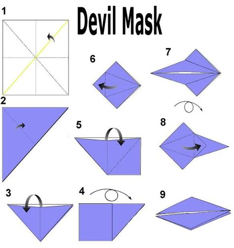 How To Make A Origami Mask - origami mask