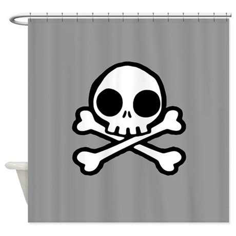 Cute Skull And Crossbones Shower Curtain By Opheliasart