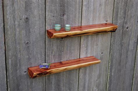 cedar log shelves rustic display and wall shelves