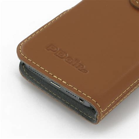 Flip Cover Leather Iphone 55sse iphone 5 5s leather flip cover brown pdair sleeve pouch