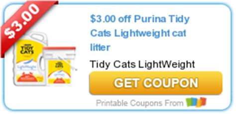 printable coupons for cat food and litter new printable coupons 3 00 off purina tidy cats