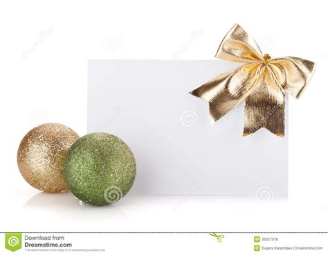 Empty Gift Cards - empty gift card and christmas decor royalty free stock photos image 33327018
