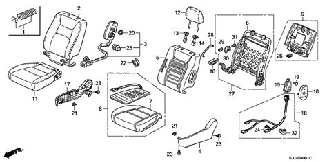 ridgeline 2006 rear seat wiring diagram 39 wiring diagram images wiring diagrams edmiracle co 78050 sjc a80 genuine honda module set r side airbag
