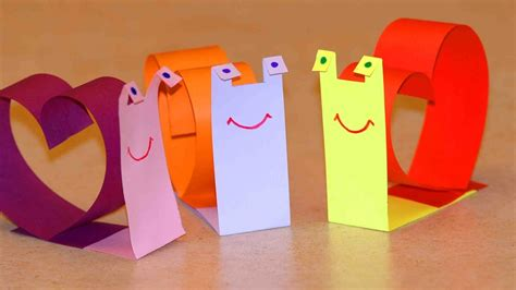 Crafts With Paper For - crafts for snail for valentine s day easy