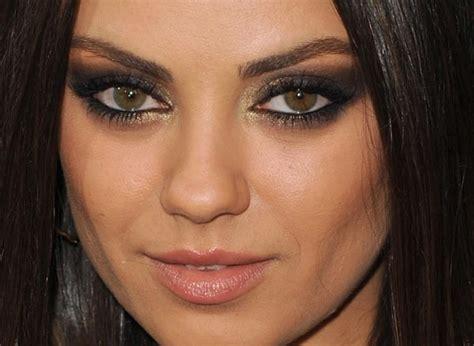 mila kunis eye color mila kunis brown smokey eye amazing hair nails and make