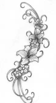 Flower and swirl tattoo designs