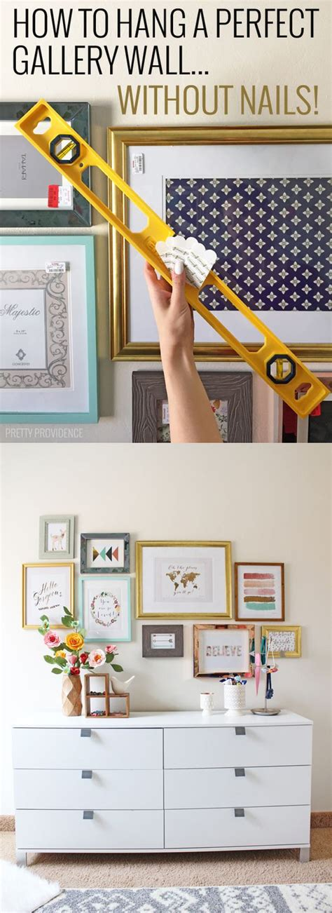 how to hang frames without nails how to hang a perfect gallery wall without nails head