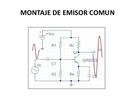 transistor bjt como lificador emisor comun montajes b 225 sicos de los transistores bjt