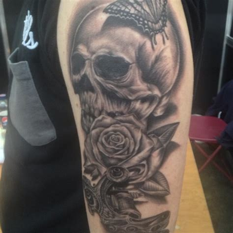 roses half sleeve tattoo 25 skull half sleeve tattoos