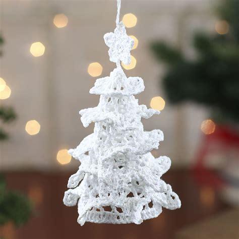white iridescent crocheted christmas tree ornament christmas ornaments christmas and winter
