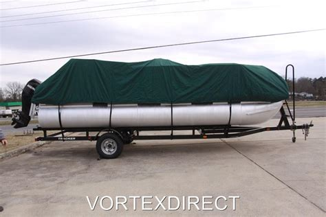 24 ft pontoon boat cover green 24 ft 24 foot ultra pontoon boat cover w elastic