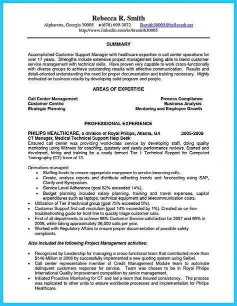 create charming call center supervisor resume with structure