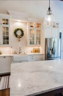 Marble Kitchen Backsplash Design My Fixer Inspired Kitchen