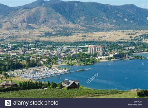 okanagan lake penticton columbia canada stock