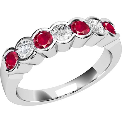 Ruby 7 9ct ruby and ring for in 9ct white gold with 7