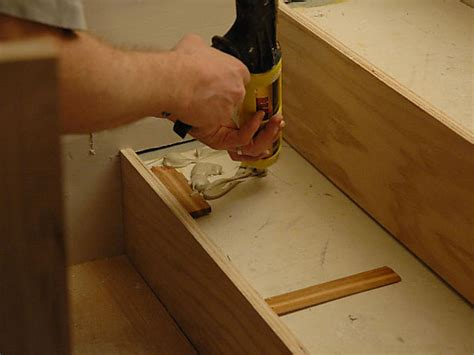 Installing Hardwood Flooring On Stairs How To Install Hardwood Stairs How Tos Diy