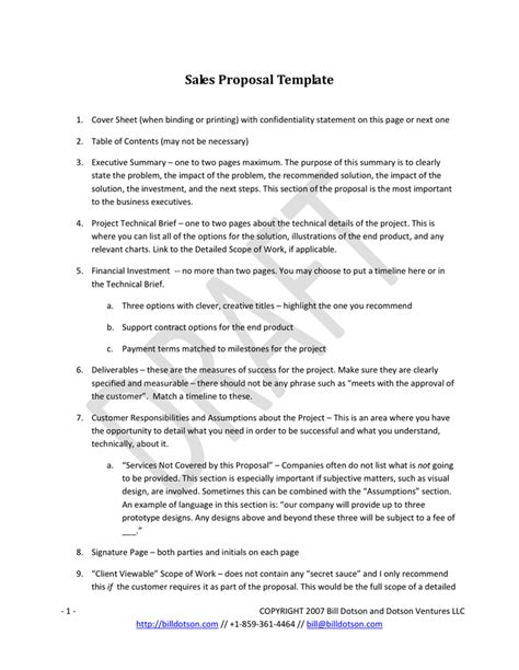 proposal format and sles 6 sales proposal templates proposal template