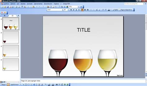 powerpoint templates free wine wine glasses powerpoint
