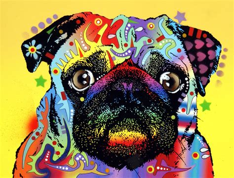 pug painting pug painting by dean russo